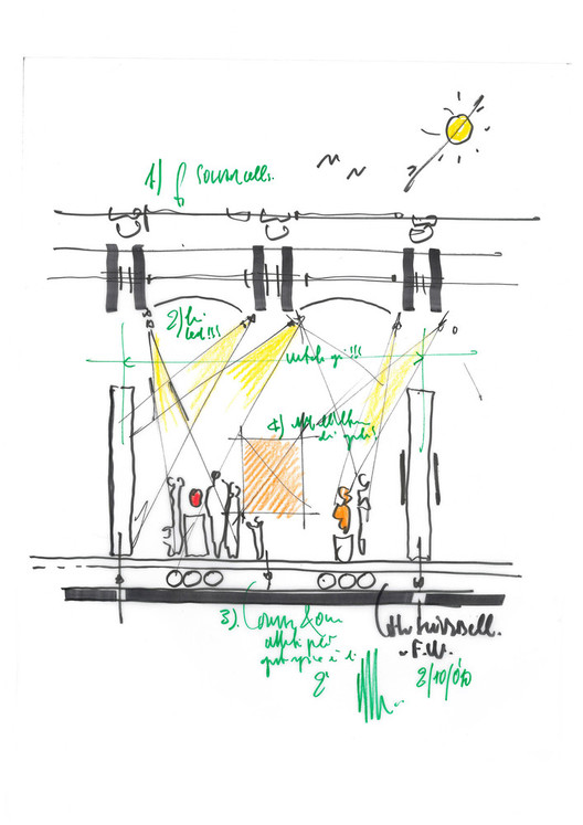 The Importance of Human Scale When Sketching, Renzo Piano Pavilion at the Kimbell Art Museum. Image © Renzo Piano Building Workshop