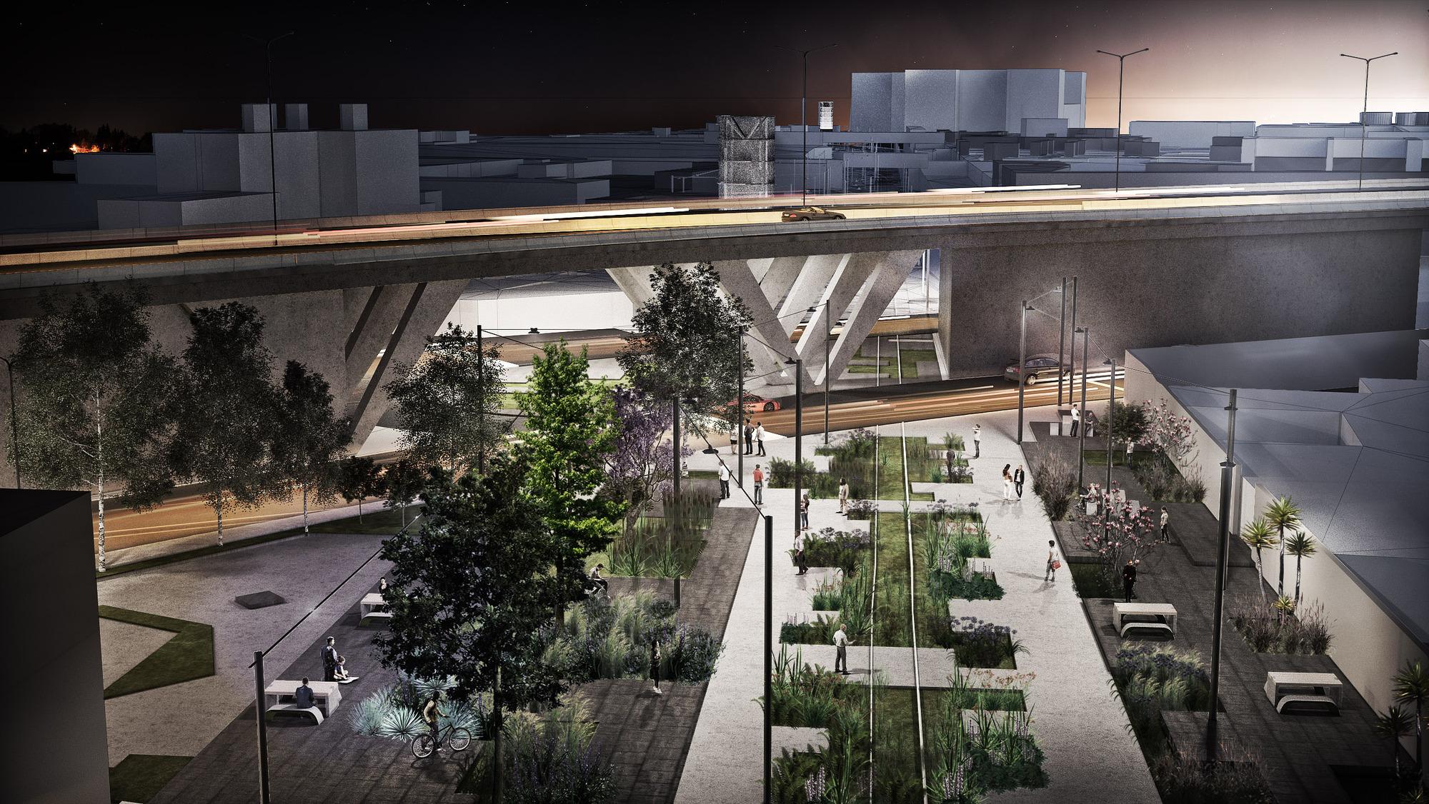 Equipo portugu s tercer lugar del concurso parque lineal for Arquitectura de proyectos
