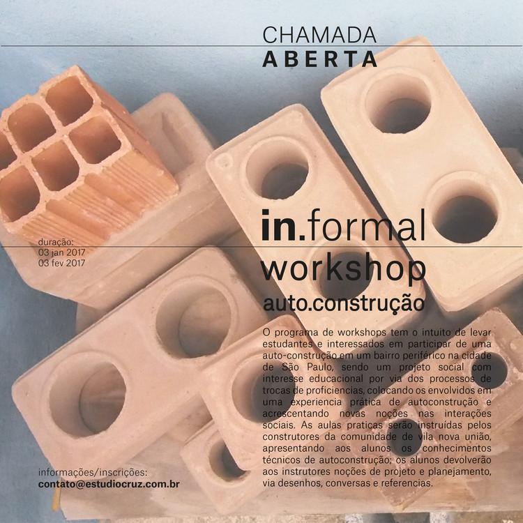 in.formal _ workshop, Chamada aberta para workshop _ foto: ernesto cruz