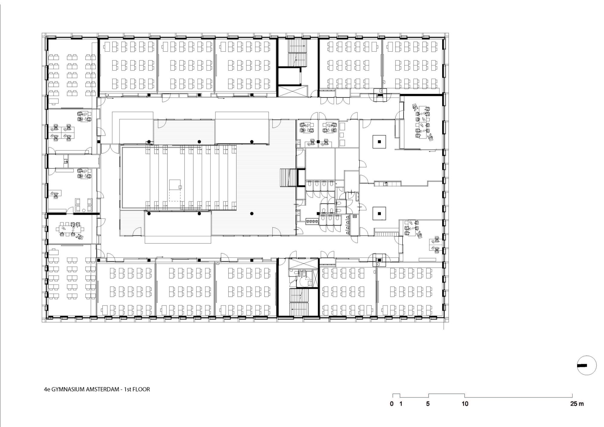 Gallery of the 4th gymnasium paul de ruiter architects 19 for Gym floor plan design