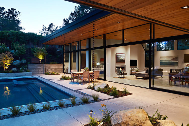 Glass Wall House Klopf Architecture Archdaily