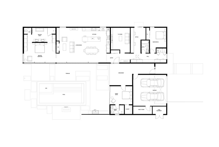 Casa muro de cristal klopf architecture plataforma for Wall homes floor plans