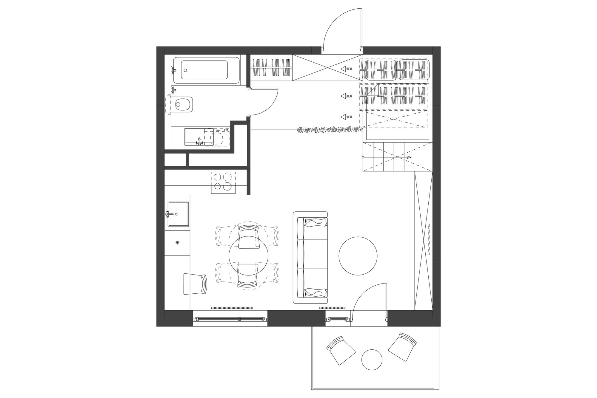 Gallery Of 35m2 Flat Studio Bazi 9