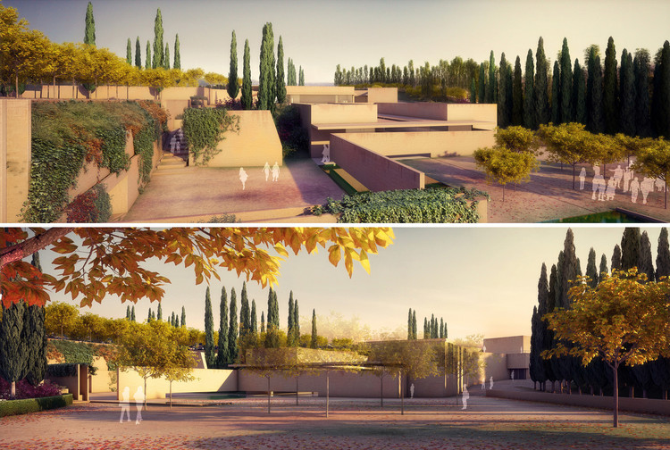 Andalucía Rejects Construction of Alvaro Siza's New Gate of Alhambra Project, New gate, by Alvaro Siza and Juan Domingo Santos. Image ©  Alvaro Siza Vieira + Juan Domingo Santos; Rendering by LT Studios