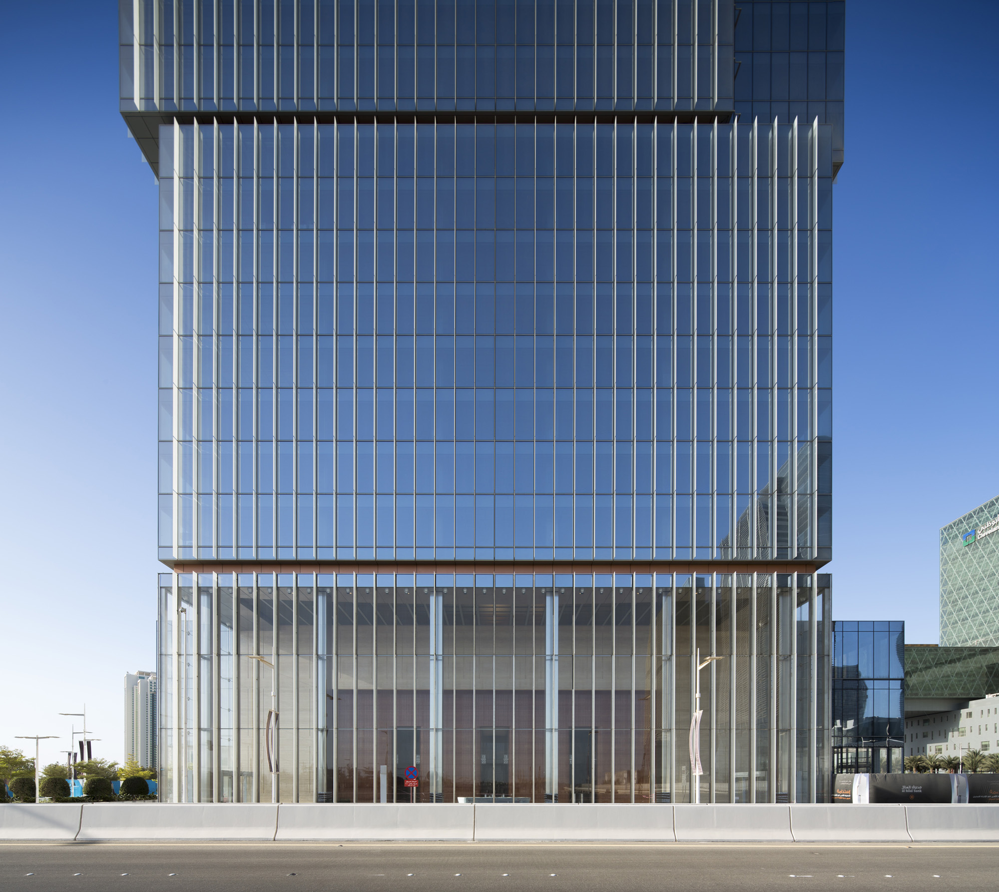 Curved Metal Facade