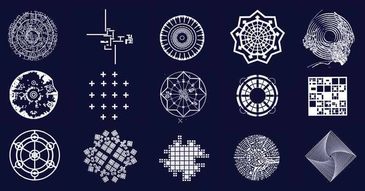 These Graphics Imagine Unrealized Architectural Plans as Beautiful Snowflakes, Courtesy of KOSMOS