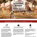 Earth Architecture International Workshop, Ghana 2017 InsideOut Workshop Flyer © Francesca Vittorini, Andrea Tabocchini