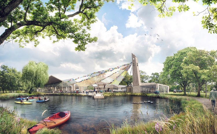 "Tate Harmer's ""Big Tent"" Wins Competition for new Museum of Scouting in London, © Tate Harmer"
