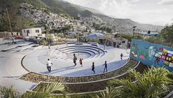 Tapis Rouge espacio público en un barrio informal en Haiti / Emergent Vernacular Architecture (EVA Studio)