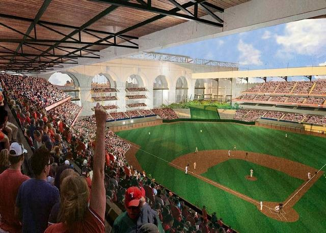 HKS Designs New Ballpark for MLB's Texas Rangers, © Texas Rangers Baseball Club / HKS