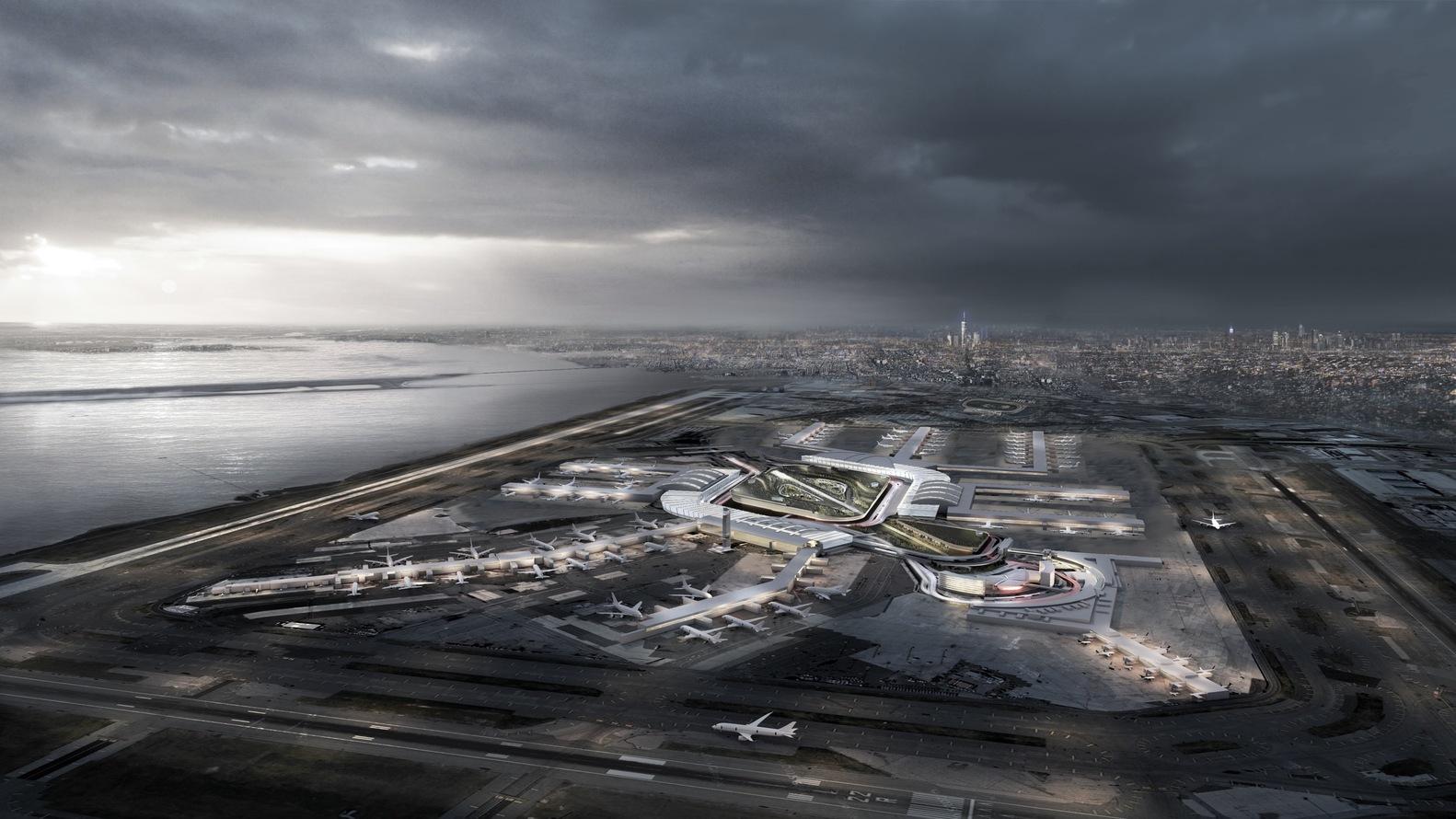 Aeroporto Jfk : Gallery of new york plans $10 billion renovation of jfk airport 1