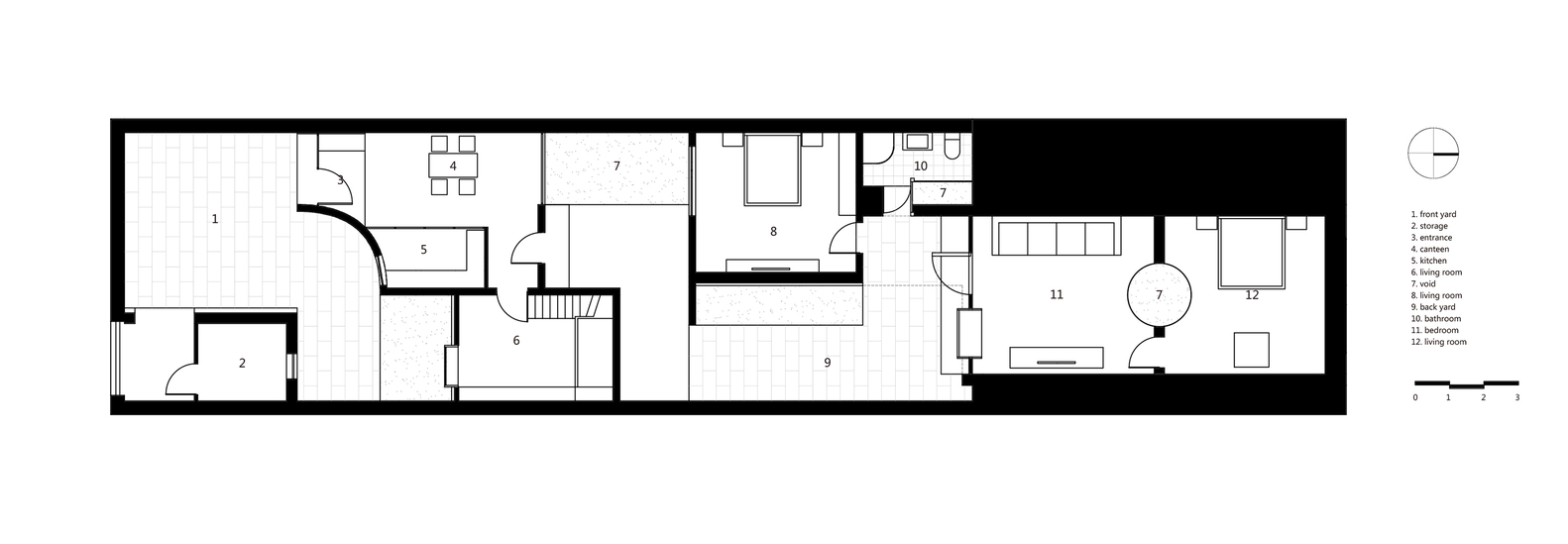 cave house in loess plateau,plan