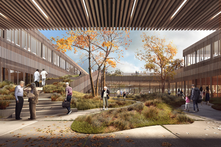 This Copenhagen Diabetes Center Connects Patients to Nature, Courtesy of Vilhelm Lauritzen Architects, Mikkelsen Architects and STED Landscape