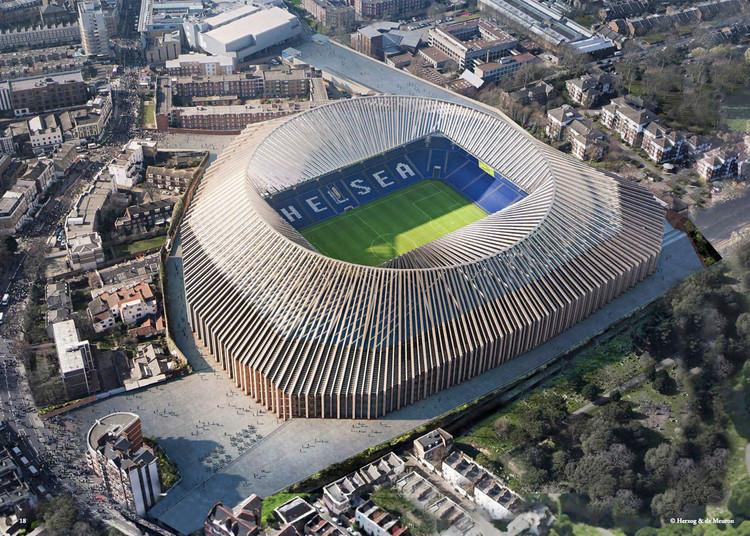 Projeto do Estádio do Chelsea FC, de Herzog & de Meuron, recebe aprovação da prefeitura de Londres, © Herzog & de Meuron