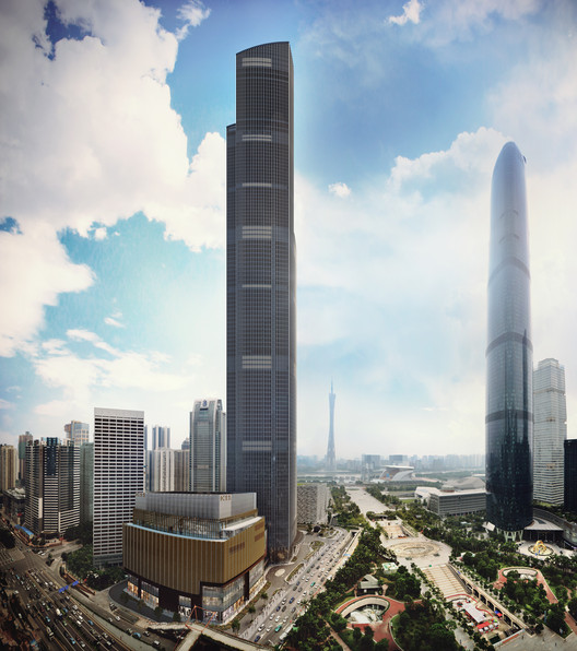 2016 é um ano recorde para edifícios altos, Guangzhou CTF Finance Centre. Cortesia de K11 New World Development