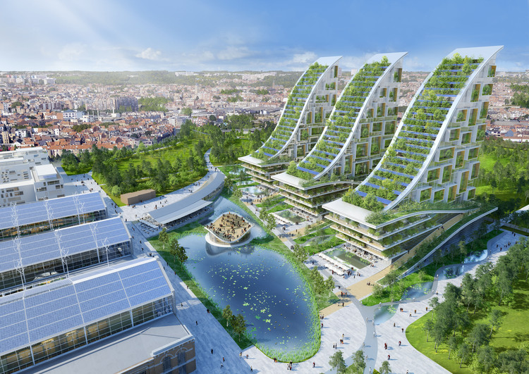 Vincent Callebaut Architectures' Plans for Eco-Neighbourhood in Brussels, Courtesy of Vincent Callebaut Architectures