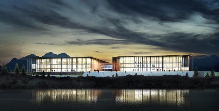 Conoce el segundo premio del concurso Complejo Judicial en Bariloche, Argentina, Cortesía de Juan Martin Flores - SMF arquitectos