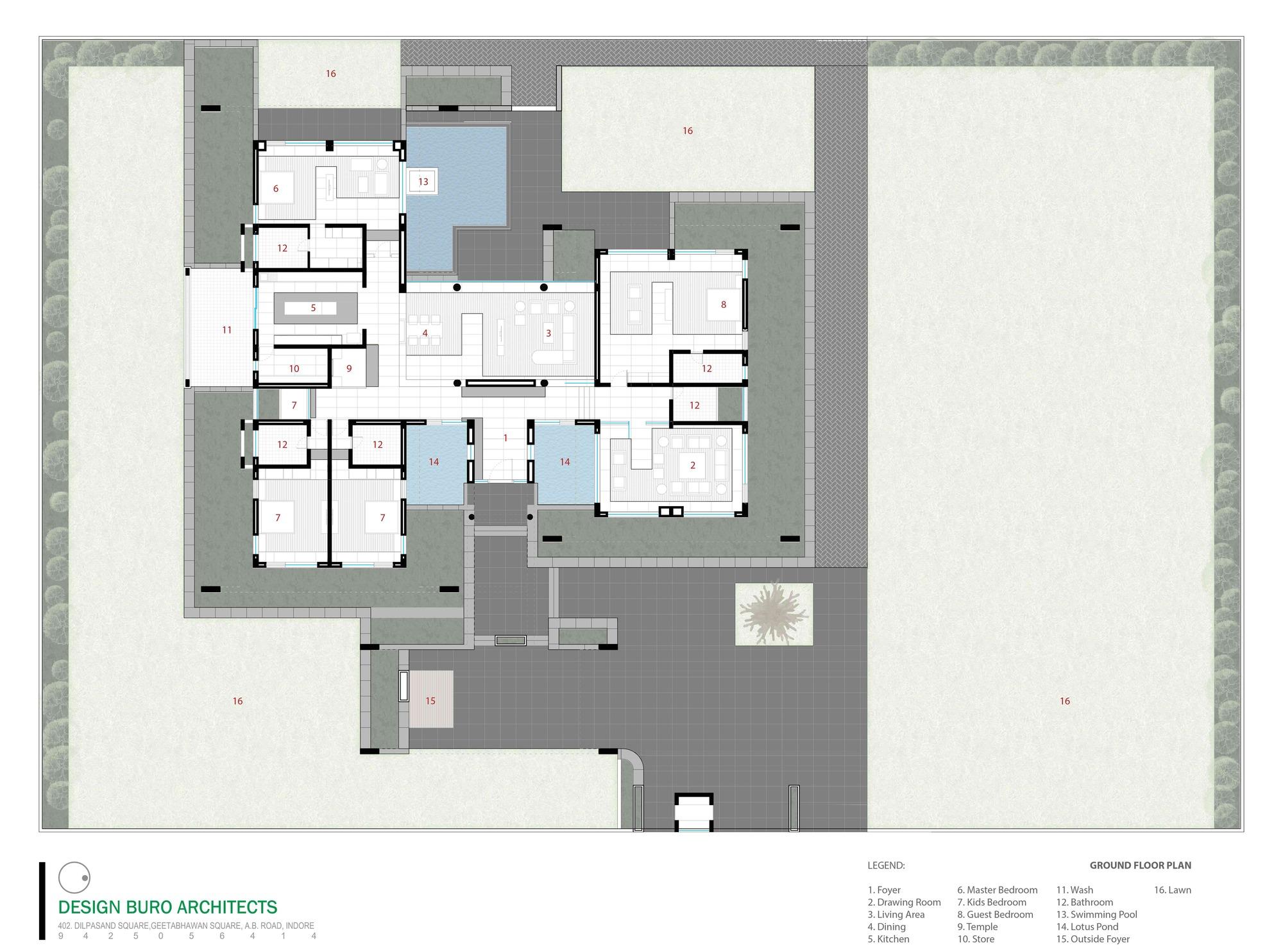 galeria de casa apex design buro architects 39. Black Bedroom Furniture Sets. Home Design Ideas