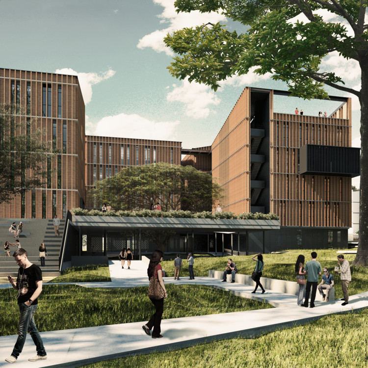 Espacio Colectivo Arquitectos, primer lugar en Concurso Edificio de Laboratorios de la Universidad Javeriana de Cali, Cortesía de Espacio Colectivo Arquitectos