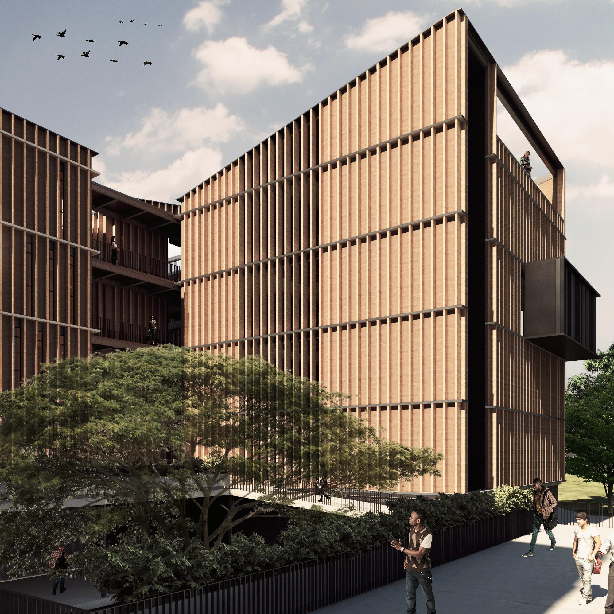 Galer a de espacio colectivo arquitectos primer lugar en for Arquitecto universidad