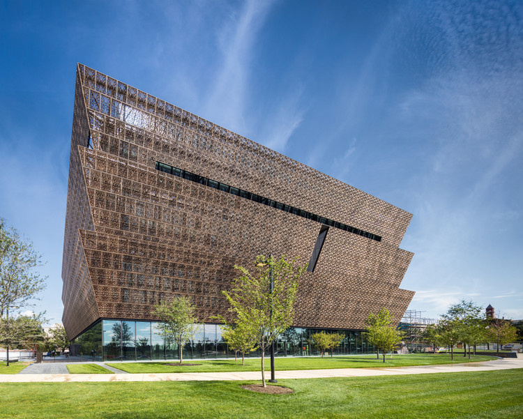 How the NMAAHC Became the Greenest Museum in Washington DC, National Museum of African American History and Culture, west facade. Image © Darren Bradley