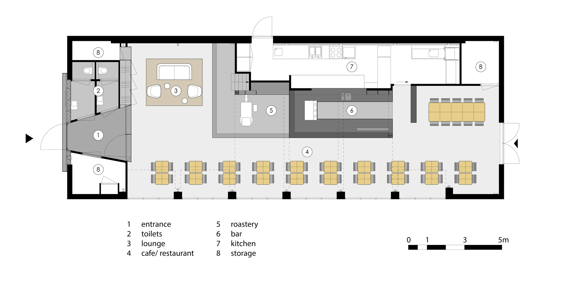 gallery of capriole caf bureau fraai 18. Black Bedroom Furniture Sets. Home Design Ideas