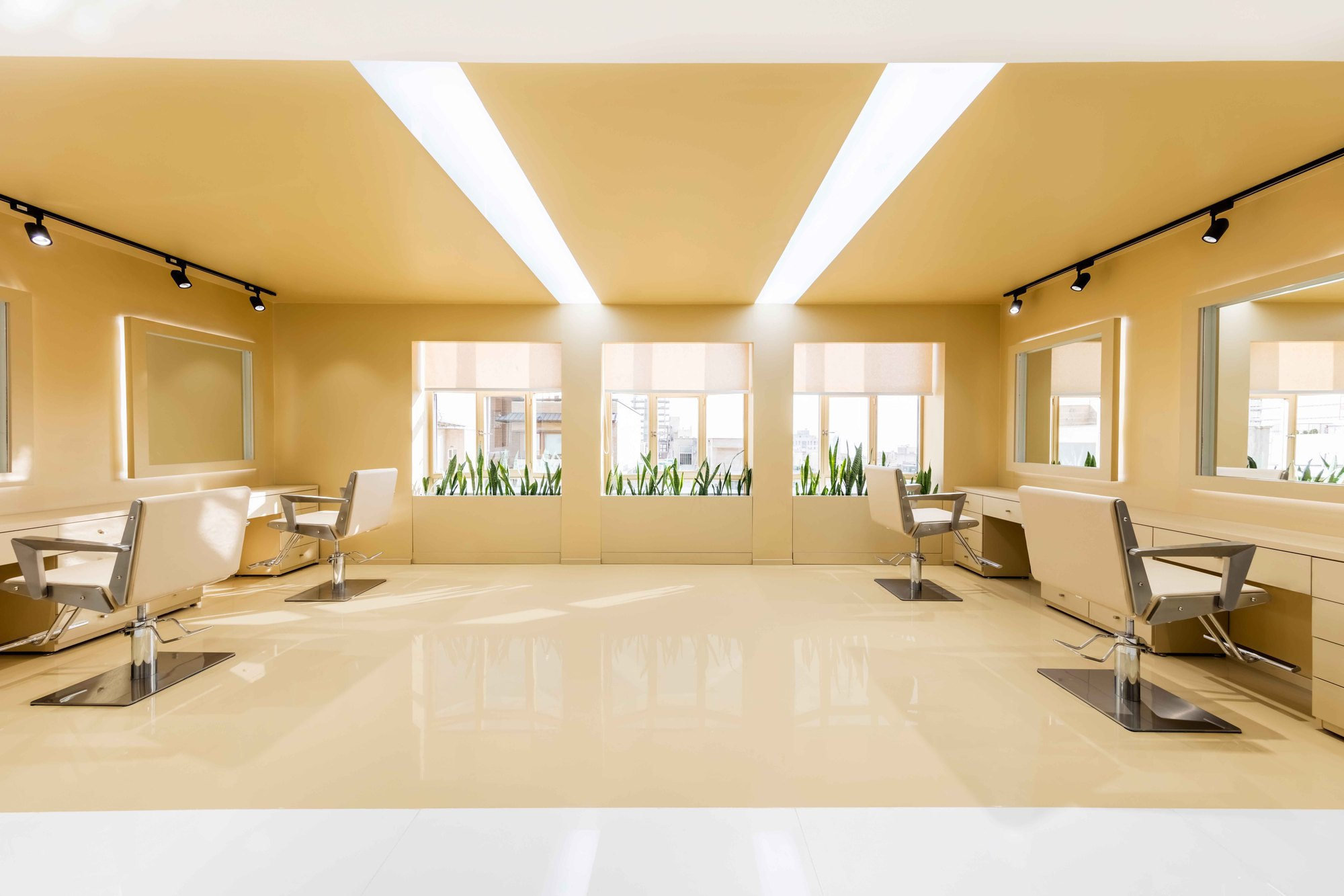 Gallery of shokrniya beauty salon 4 architecture studio 6 - Salon architecture ...