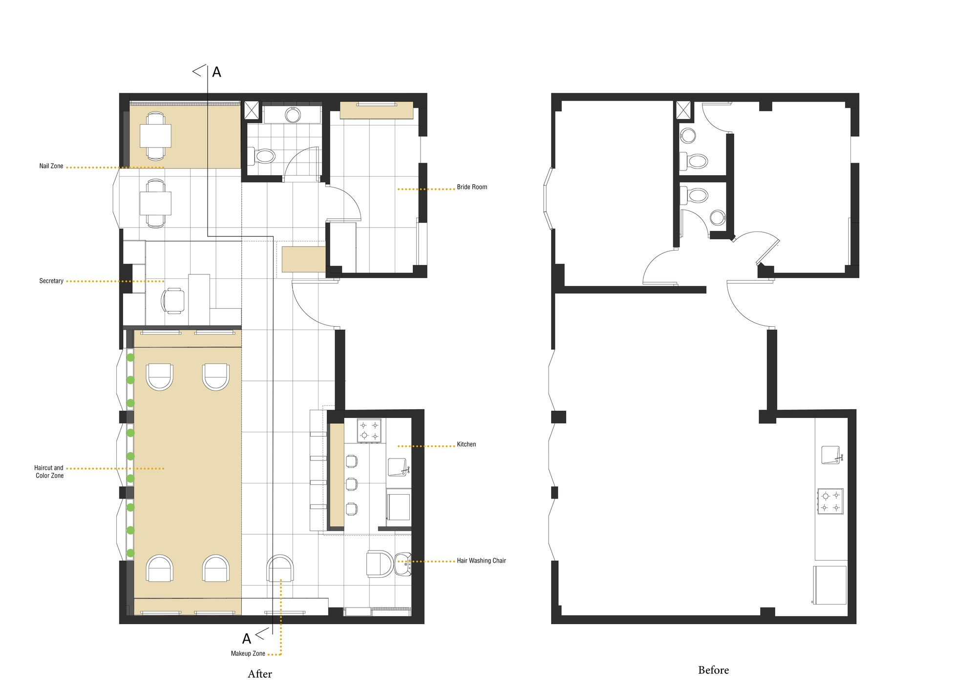 Gallery of shokrniya beauty salon 4 architecture studio 11 for Design a beauty salon floor plan
