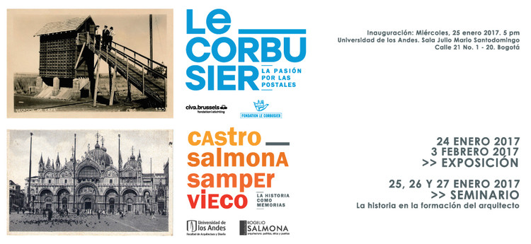 Exposición: Le Corbusier, la pasión por las postales, Facultad de Arquitectura y Diseño, Universidad de los Andes
