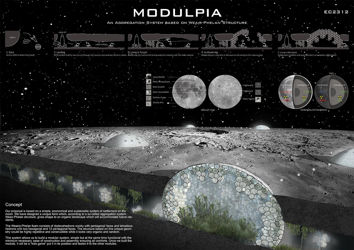 Gallery of 9 Visions for Lunar Colonies Selected as Winners