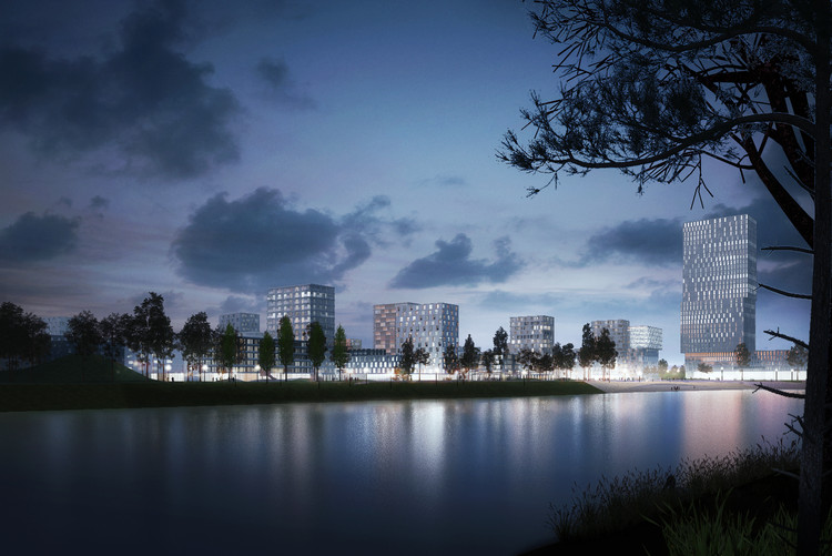 Budapest's Largest Urban Development in 30 Years Begins Construction, Waterfront. Image Courtesy of ADEPT Architects