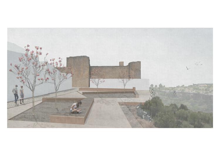 'Asomarse', la propuesta ganadora de RSNstudio en 'Hornachuelos Downtown Reactivation', Cortesía de RSNstudio