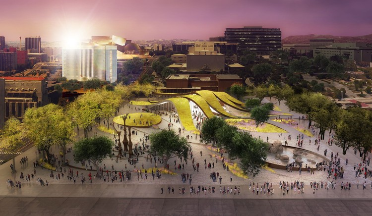 Brooks + Scarpa Reveal Alternate Proposal for New $12 Million Park in Downtown Los Angeles, © Brooks + Scarpa