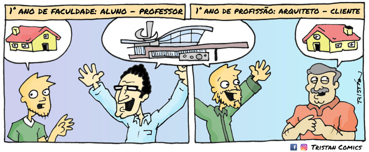 O estudante de arquitetura através de 15 tirinhas de quadrinhos, por Tristán Comics, Cortesia de Tristán Comics