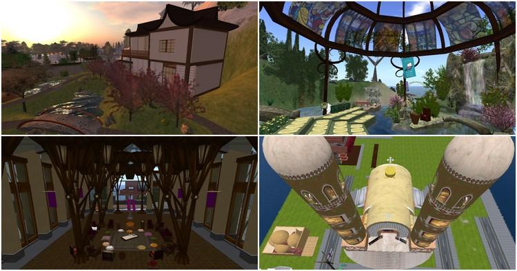 """4 Espaços virtuais em """"Second Life"""" que exploram alternativas de arquitetura religiosa, Capturas de tela via Second Life"""