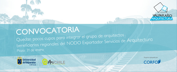 Convocatoria para NODO Exportador Servicios de Arquitectura, Aceleradora AniChile