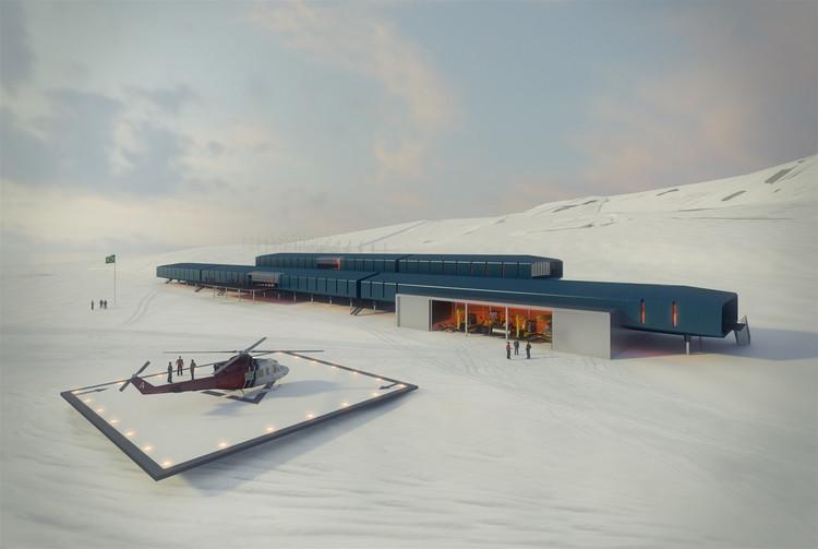 Protótipo da base brasileira na Antártica começa a ser construído na China, Estação Antártica Comandante Ferraz. Image Cortesia de Estúdio 41