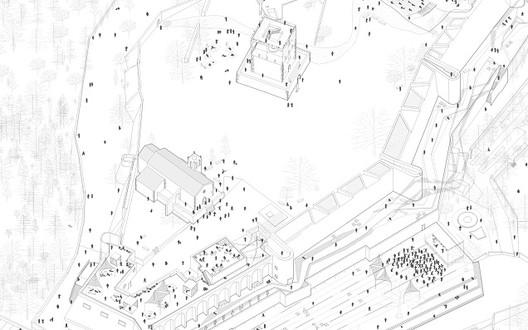 Resultado do Concurso Internacional de Ideias Castelo de Abrantes, 1º Lugar. Image Cortesia de Ordem dos Arquitectos SRS