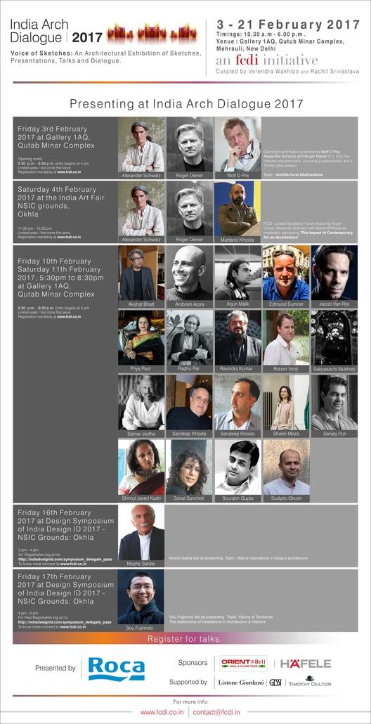 India Arch Dialogue 2017, India Arch Dialogue 2017 Schedule