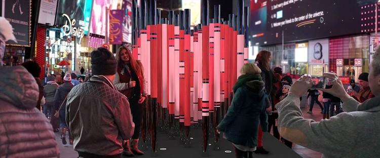 Intervención del Día de San Valentín en Times Square celebrará a los inmigrantes de Nueva York, Cortesía de The Office for Creative Research