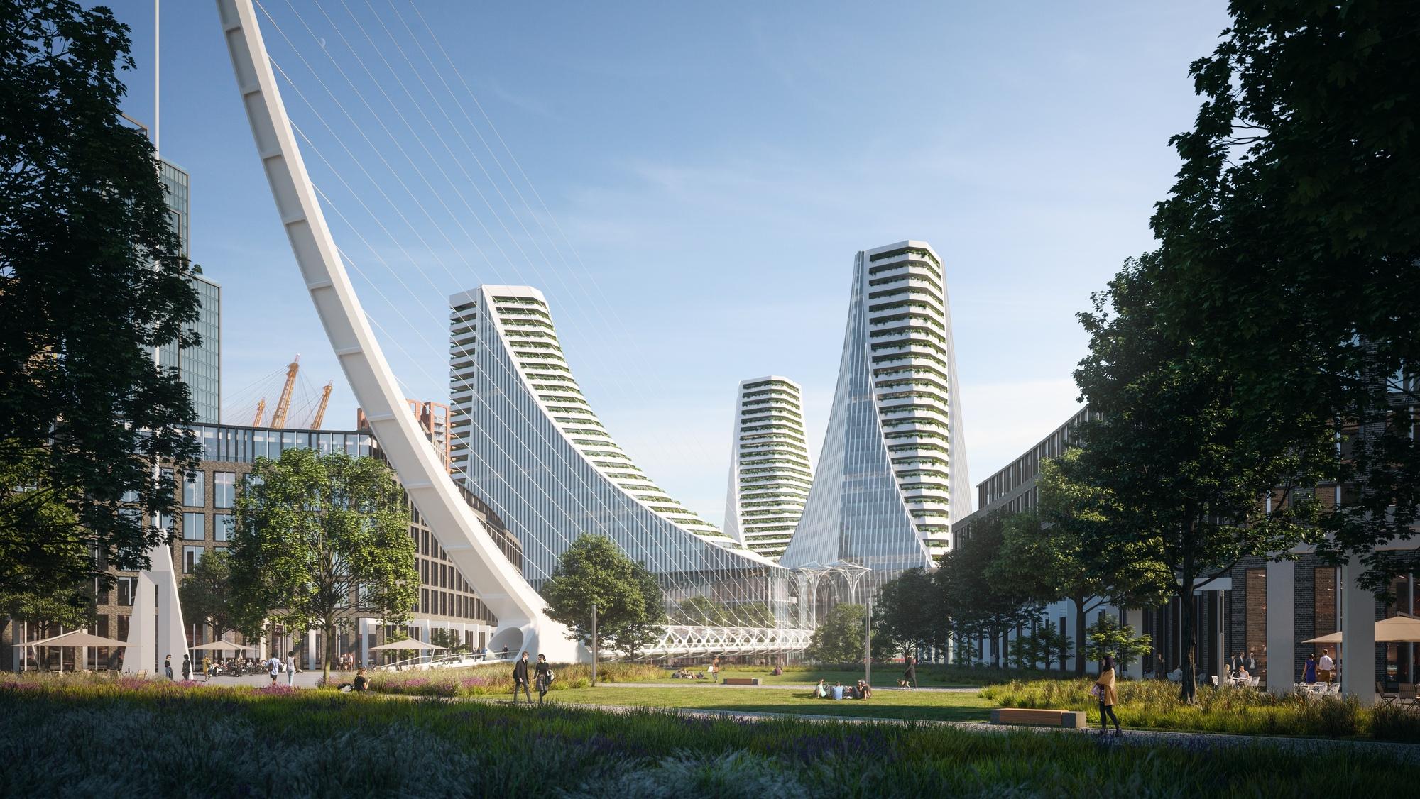 santiago calatrava reveals 1 billion mixed use project in london