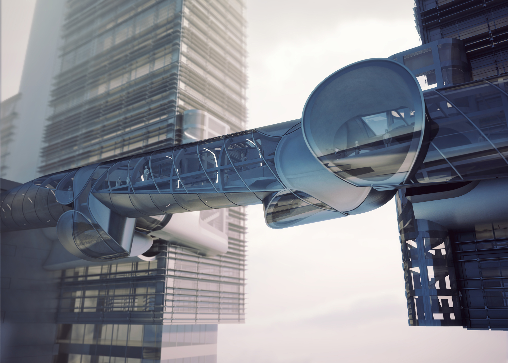 Preliminary Research Office Proposes Conical Sky Bridge For Drone