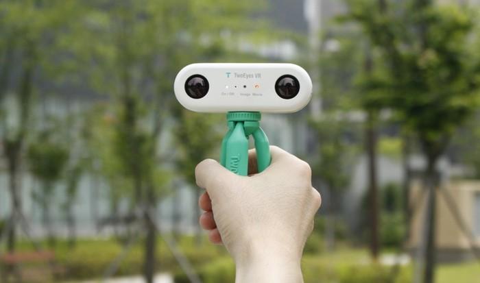 TwoEyes VR 360, a primeira câmera que filma como a visão humana, via Kickstarter. Cortesia de TwoEyes Tech