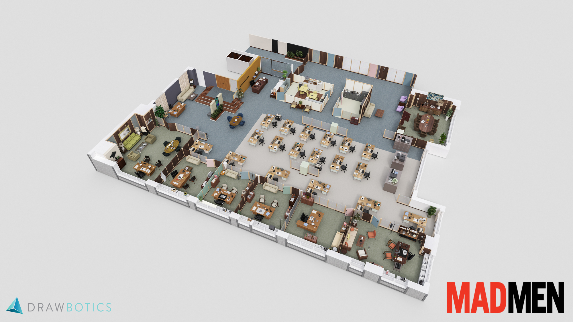 5894c477e58ece6ec70005f7 Parks And Rec Suits And Silicon Valley See 7 Offices From Hit Tv Shows In Detailed 3d Models Image on Dunder Mifflin Office Layout