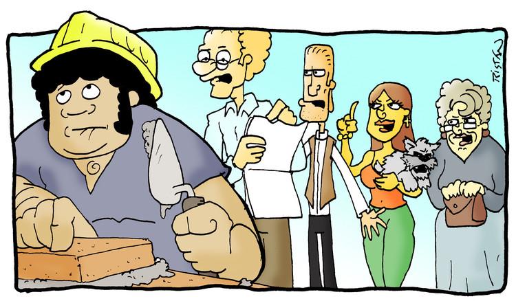El arte de trabajar en arquitectura: tiras humorísticas por Tristán Comics, Cadena de demandas. Image Cortesía de Tristán Comics