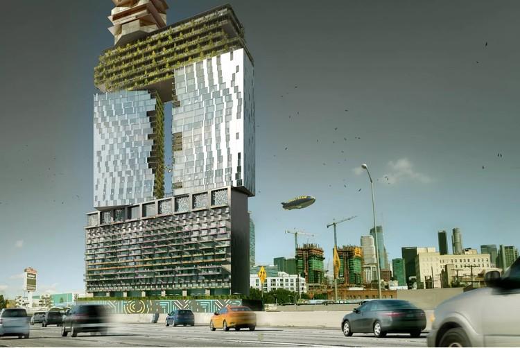 """Gensler diseña """"puerta"""" de uso mixto de 52 pisos en el centro de Los Ángeles, Cortesía de Gensler"""