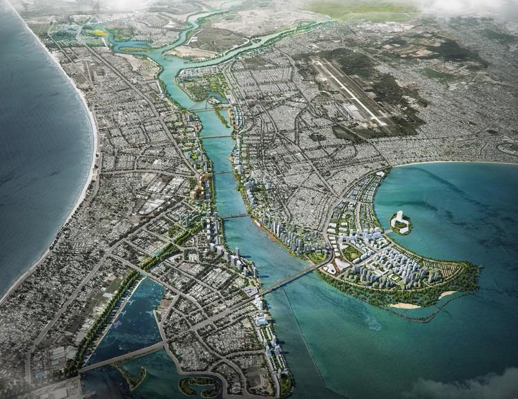 Primeiro lugar no Concurso Internacional de Projeto Paisagístico para o Rio Han, no Vietnã , Cortesia de LJ-Asia (Landscape Jardins Asia)