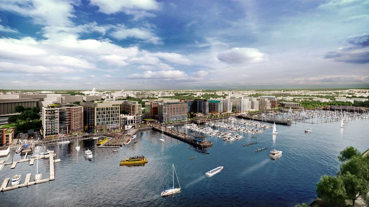 Eleven Practices to Complete $2 Billion Waterfront Development in Washington D.C., via Wharf DC Facebook