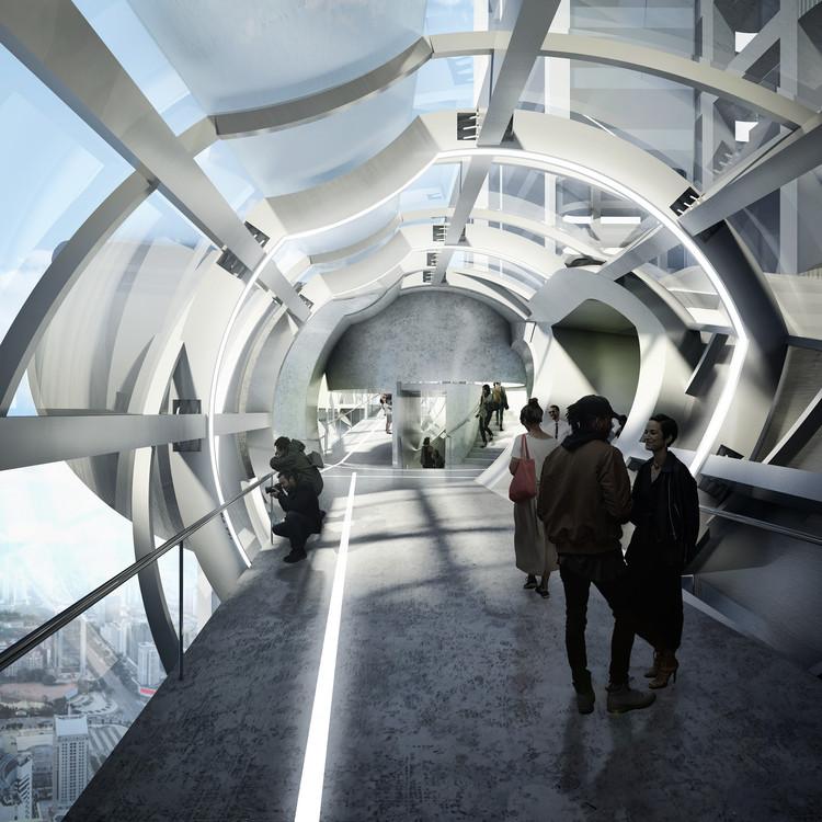 Preliminary Research Office propõe passarela para observação de drones em Shenzhen, © Preliminary Research Office
