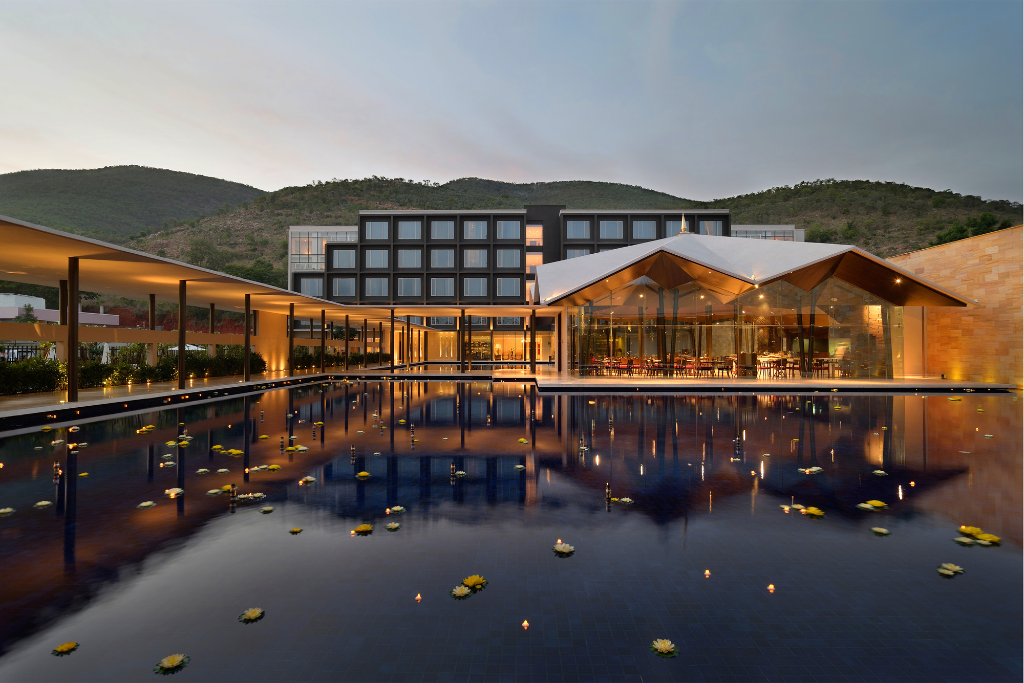 Gallery of the dasavatara hotel sjk architects 1 for Top design hotels india